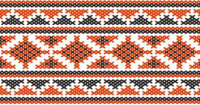 петельная вышивка в ковровой технике